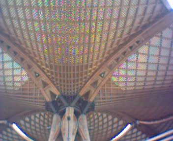 The wooden roof (from the EXPO2000)